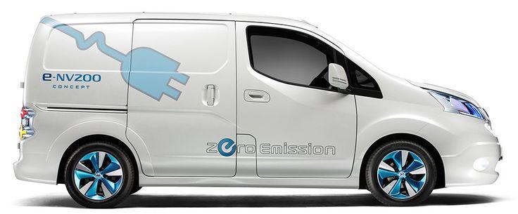 Electric compact van e-NV200 (Image: Nissan Motor Company) #electriccar #Nissan #van #minivan