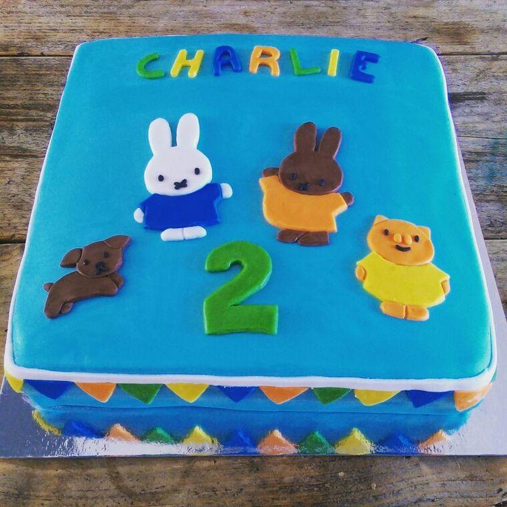 Nijntje en zijn vrienden taart / Miffy and Friends Cake