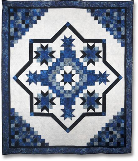 Irish Mist Blue Quilt-Perfect... I've been looking for a blue and white quilt idea!