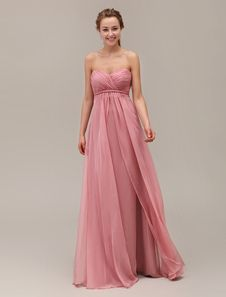 Sweetheart Neck Strapless Floor-Length Bridesmaid Dress With Tiered Chiffon. Get surprising discounts up to 70% Off at Milanoo using Coupon & Promo Codes.
