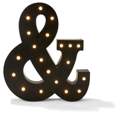 Mood Board Monday {The Bandwagon} - Black ampersand LED light - Kmart