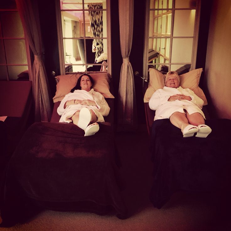 Lounging in our relaxation area after a birthday maternity massage