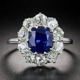 2.00 Carat Natural No-Heat Sapphire, Platinum and Diamond Ring - What's New