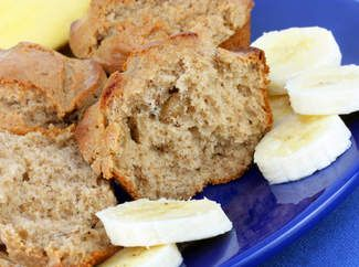 This lovely healthier suger-free version of banana and pear muffin recipe is a delight for the whole family!