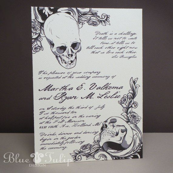 Baroque Elegance Skull Invitations Etsy Skull Wedding Invitation Skull Wedding Simple Wedding Invitations