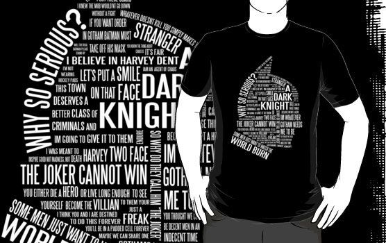 The Dark Knight Typography T-shirt Design
