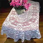 Potsdam Oval Tablecloth Pattern in Filet Crochet