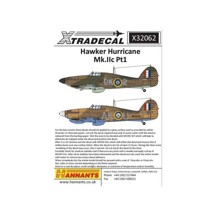 Xtradecal 32062 - Hawker Hurricane Mk.IIc Pt 1 (3) BE643, A - Adhesivos 01:32 - La elección más grande con 1001modelkits.com