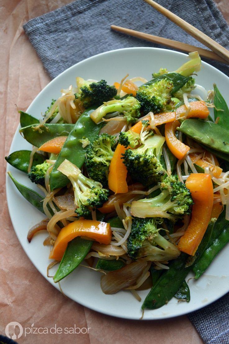 Vegetales orientales salteados www.pizcadesabor.com