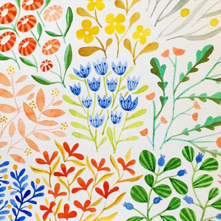 kirsten sevig  #illustratorinminneapolis #watercolor #painting #patterns…