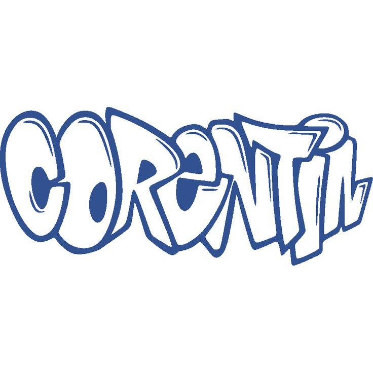Sticker mural: personnalisation de Corentin Graffiti