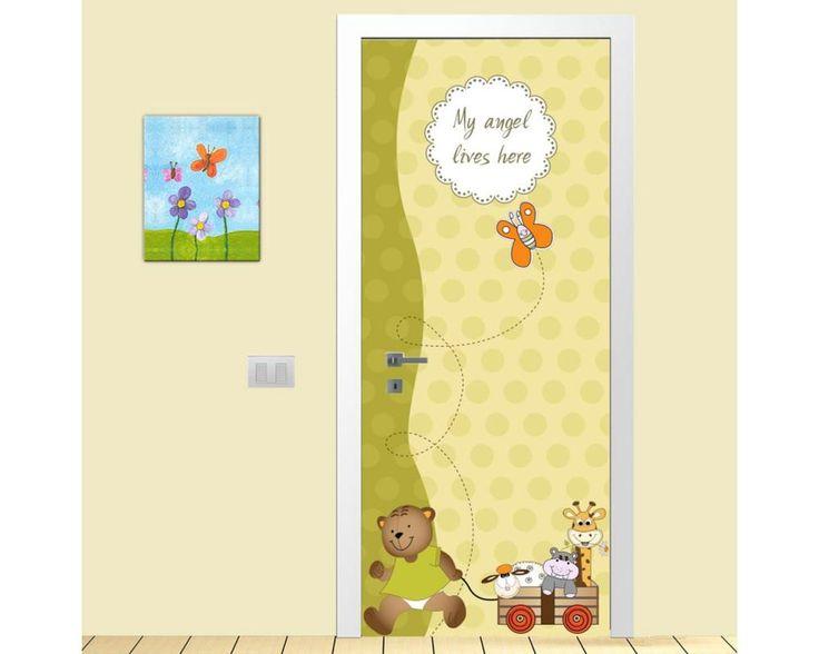 Πάμε βόλτα,αυτοκόλλητο πόρτας παιδικό
