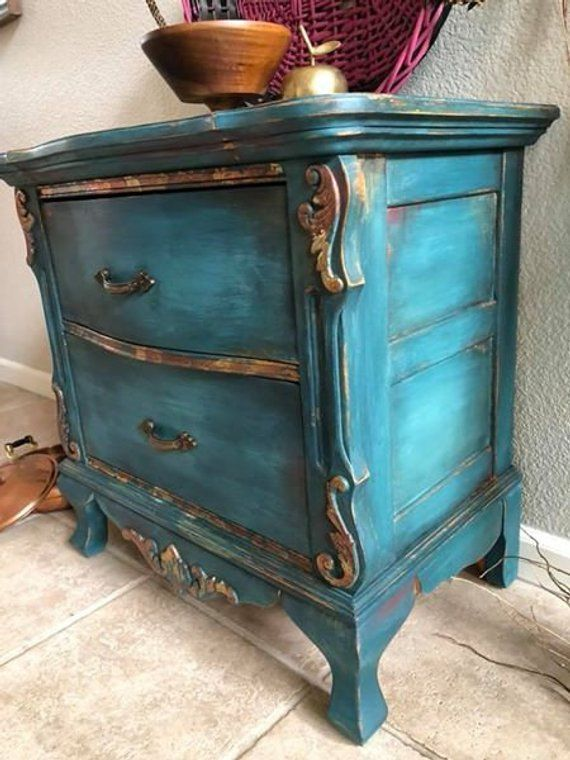 Sold Use For Custom Painting Inspiration Hand Painted Etsy Painted Furniture Paint Furniture Vintage Nightstand