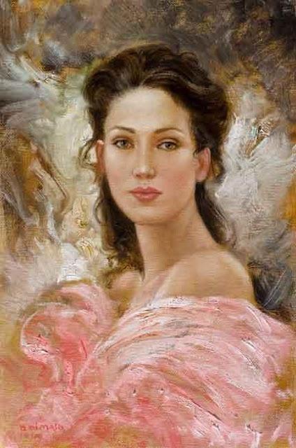Cottage Charm ~ pink, brown, cream ~ Artist - Bruno Di Maio