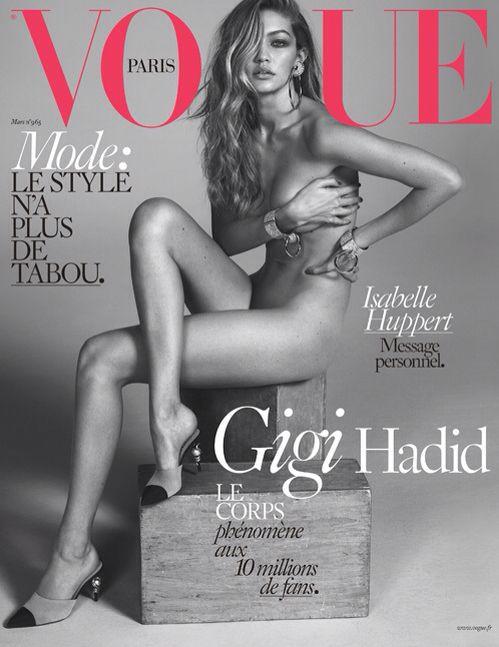 Gigi hadid na vogue Paris