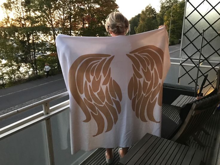 Get Angel wings around you. This fleece around you, you are like in angels hug.