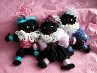 zwarte pietjes van wol