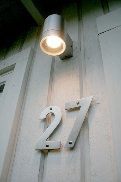 35 best House Numbers images on Pinterest House numbers Modern