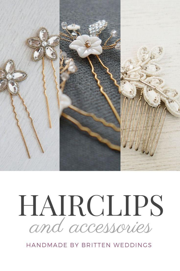 beautiful art deco hair accessories, hair pins and veils
