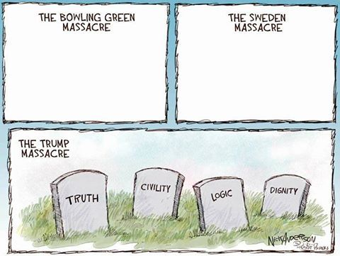 Image result for Trump and the demise of civility cartoon