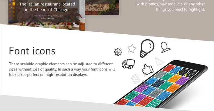Italian Restaurant Responsive Website Template #58062