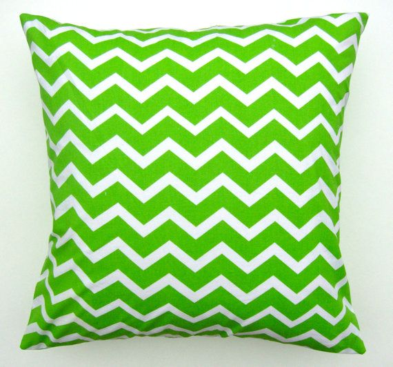 Buy Green Chevron Pillow Cover - Green Chevron Fabric - Handmade Decorative Pillows - Throw Pillows - Accent Pillow by rkymtncrafts. Explore more products on http://rkymtncrafts.etsy.com