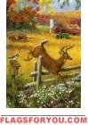 Leaping Deer Garden Flag