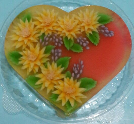 Puding art by tool