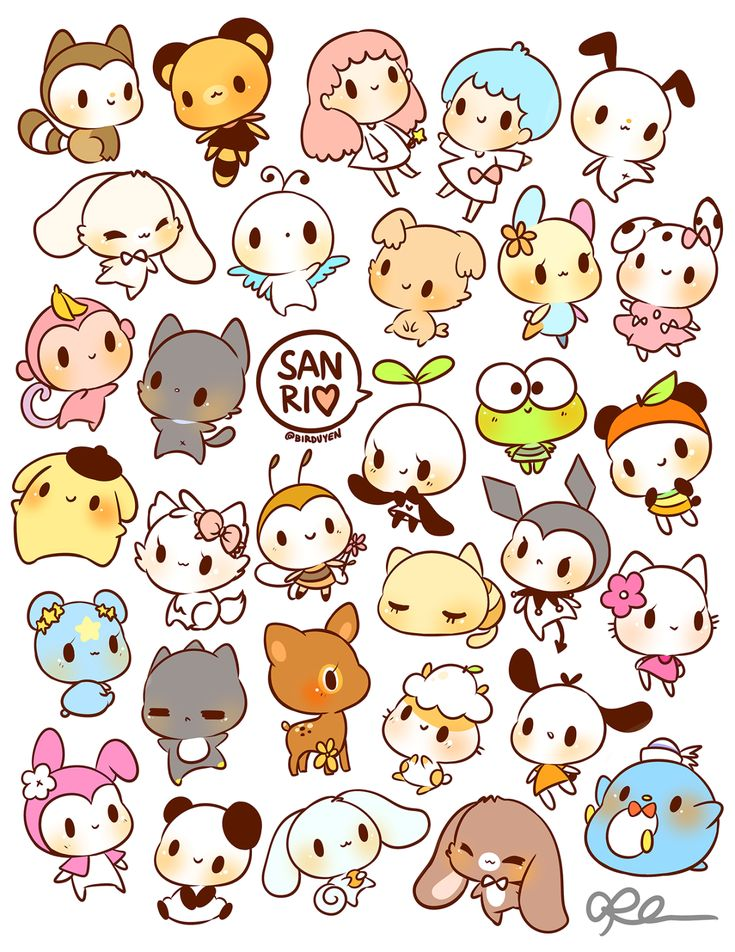 by birduyen: sanrio stickers!! available in my shop :)