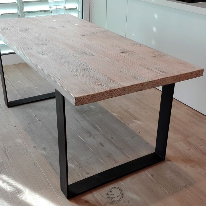Steel And Wood Kitchen Table Solid Wood Dining Table Kitchen Table Wood Steel Dining Table