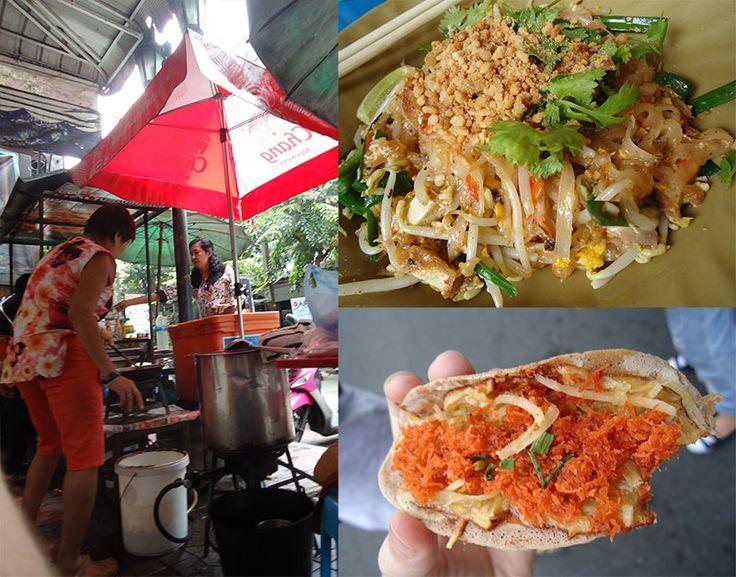 Khosan Road a rua sagrada para os mochileiros na Tailândia comida pad thai