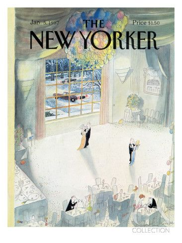 The New Yorker Cover - January 5, 1987 Poster Print by Jean-Jacques Sempé at the Condé Nast Collection