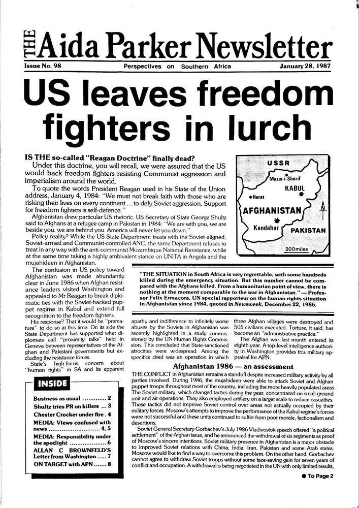 Very Rare, Apartheid Era Anti - Communist, The Aida Parker Newsletter.11Editions | Collectibles, Historical Memorabilia, Political | eBay!