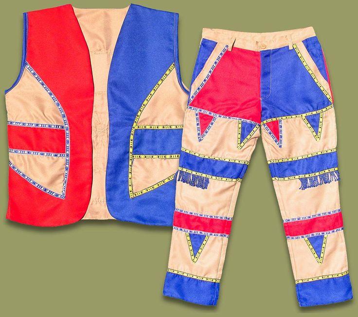 Umblaselo Zulu Boys Waistcoat Vest Trouser Set
