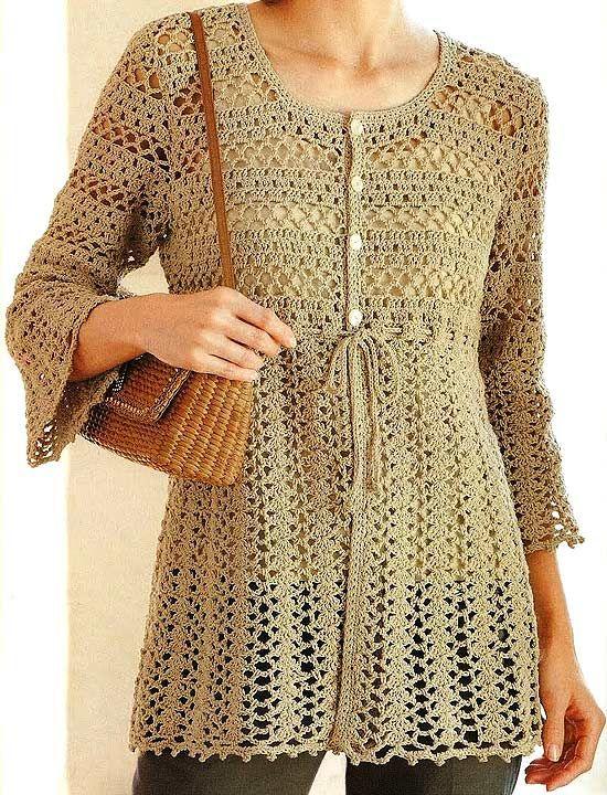 Beautiful Jacket free crochet graph pattern