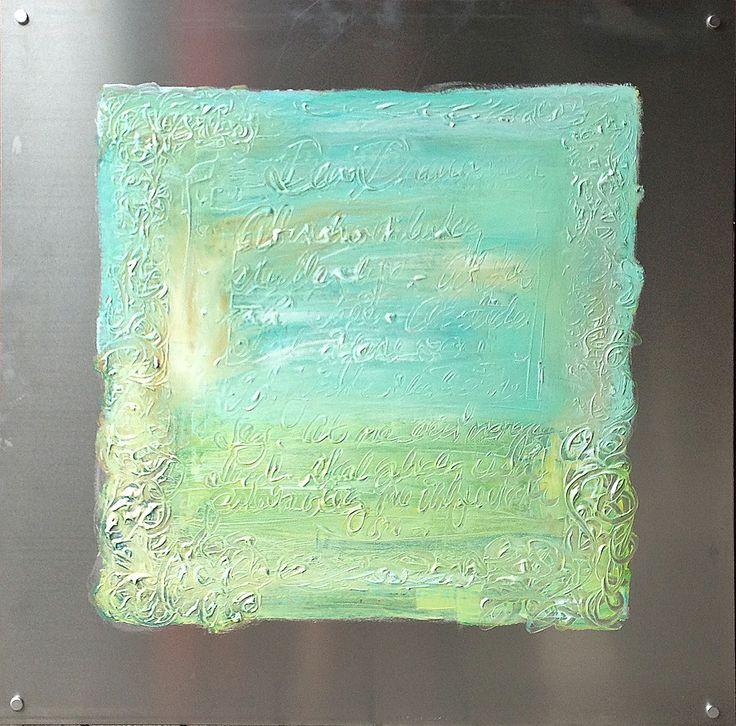 Acrylic paint on aluminum by Elisabeth Takvam