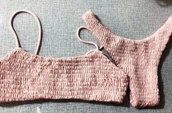 #swimwear #bikini #luxe #pink #cocktail #ribbed #fabric #style #beach #summer #hot