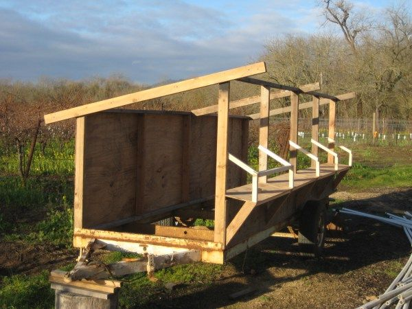 20 best images about building a chicken coop on pinterest for Mobile chicken coops