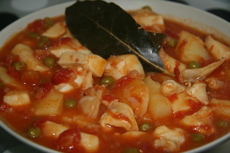 ¡Sepia estofada con patatas...plato hondo y cuchara! ;) - Hierbabuena y Pimienta