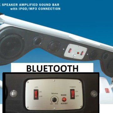 Bluetooth Jeep Wrangler Soundbar with Amp & LED Lights & 6 speakers                                                                                                                                                                                 More