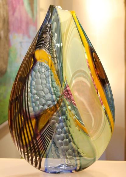 Strigi, Pebble vase by Jeffrey Pan of Prescient Studios.