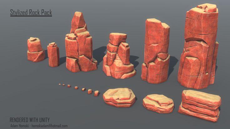 ArtStation - Stylized Rock Pack , Adam Homoki