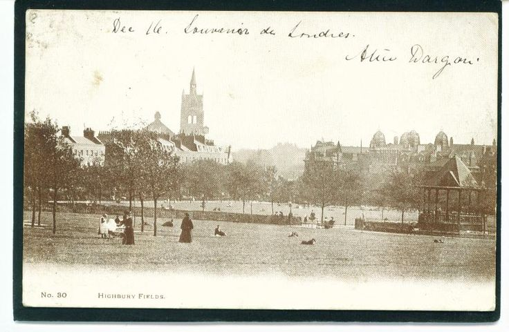 Highbury Fields Bandstand.(Union Chapel in the distance).
