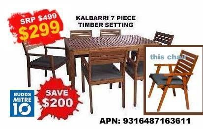 OUTDOOR TIMBER FURNITURE 7 PIECE SETTING | Outdoor Dining Furniture | Gumtree Australia Tweed Heads Area - Murwillumbah | 1086026764