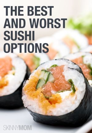 Craving sushi?  Here are some healthy options the next time you get that craving.