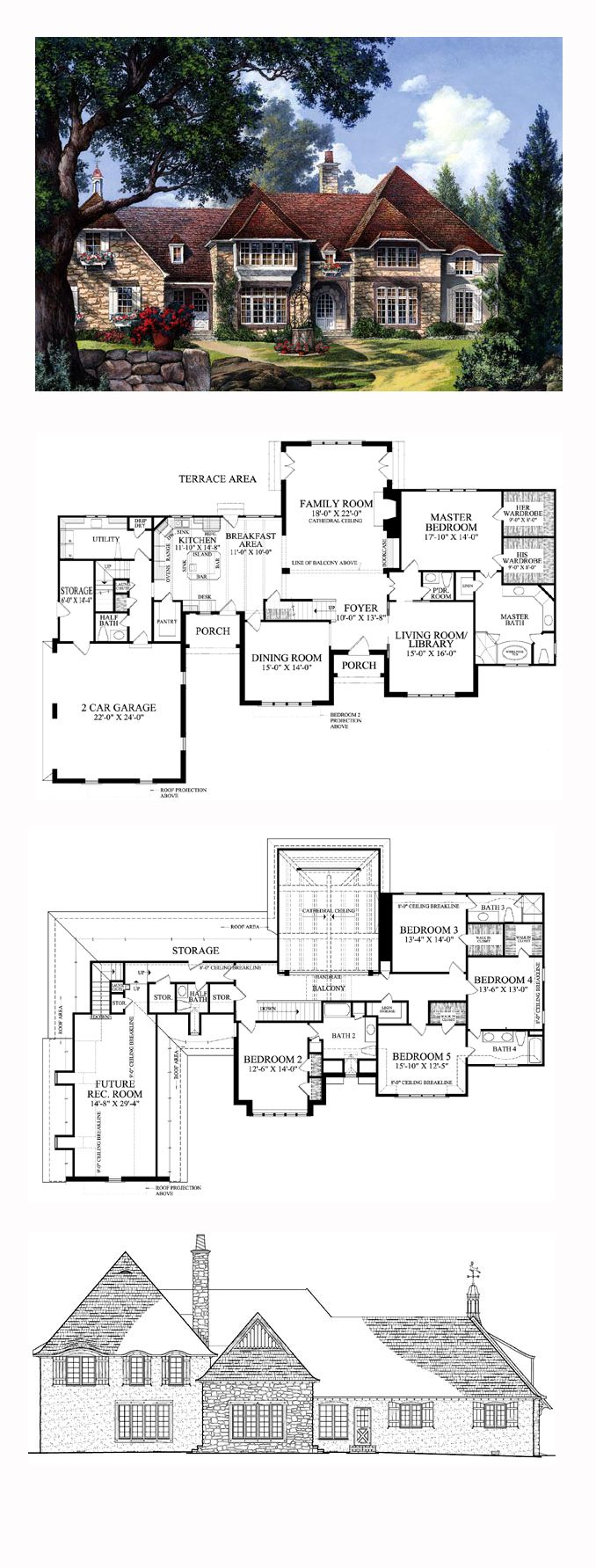 Plantation House Plan 86260 | Total Living Area: 4258 sq. ft., 5 bedrooms, 4 full bathrooms and 3 half baths. #plantationhome