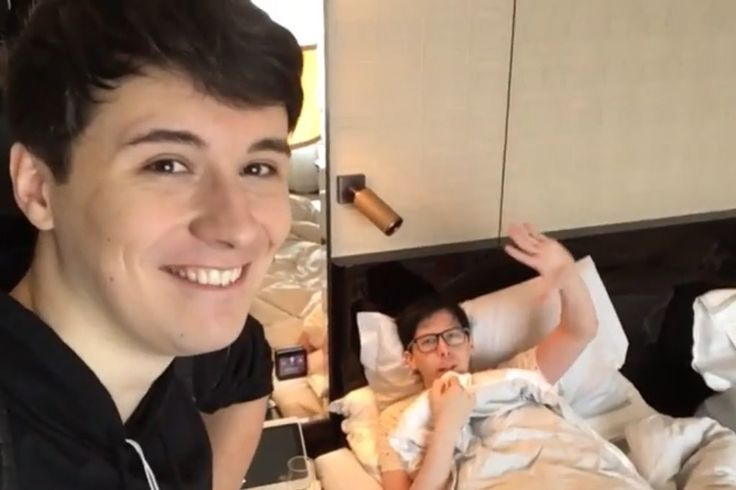 all those years ago i don't think dan thought he would ever be in a hotel room touring the world in a live show with phil fuckung lester