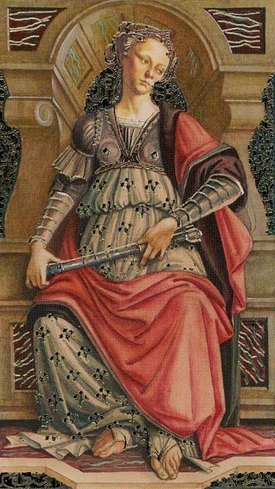 The Empress - Golden Botticelli Tarot