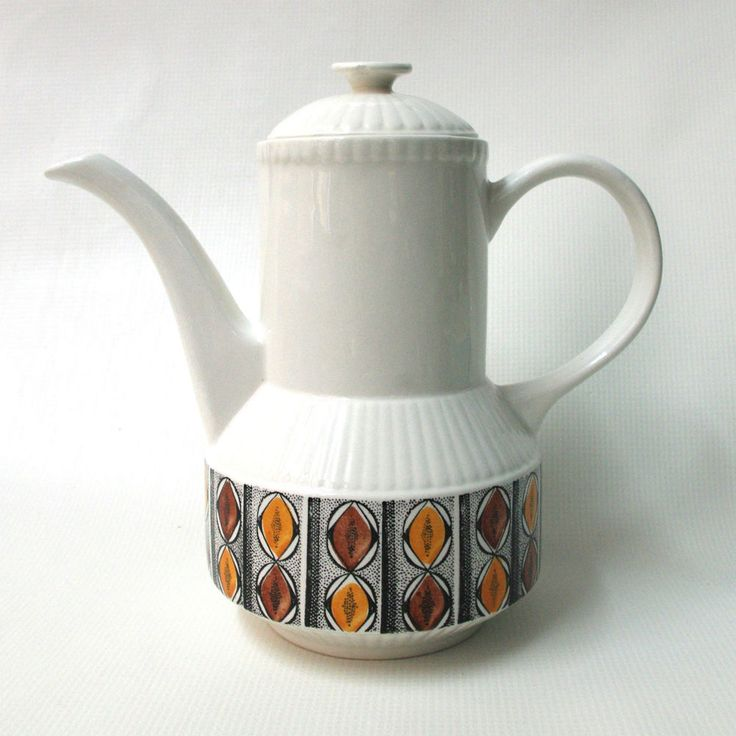 Kathie Winkle MEXICO tea/coffee pot 1970s retro Broadhurst Staffordshire Vintage. £15 ebay item 141783525128