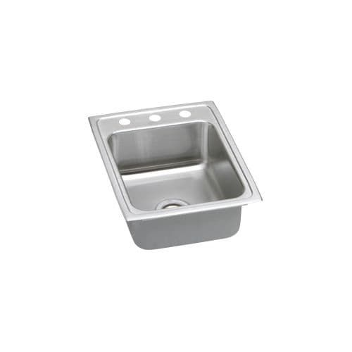 Elkay PSR1722 Pacemaker 17 Single Basin 20-Gauge Stainless Steel Kitchen Sink for Drop In Installations with SoundGuard (